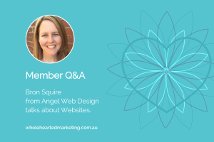 Member Q&A - Bron Squire talks Websites