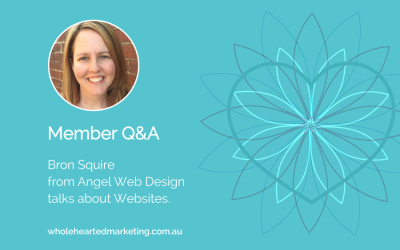 Member Q&A – Bron Thulke talks Websites